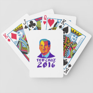 Ted Cruz President 2016 Retro Bicycle Playing Cards