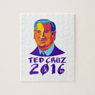 Ted Cruz President 2016 Retro Jigsaw Puzzle