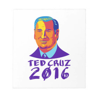 Ted Cruz President 2016 Retro Notepad
