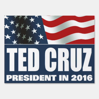 Ted Cruz President in 2016 Sign