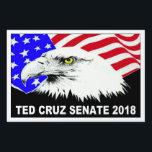 "Ted Cruz Senate 2018 American Eagle popular Lawn Sign<br><div class=""desc"">Ted Cruz Senate 2018 American Eagle popular yard sign.</div>"
