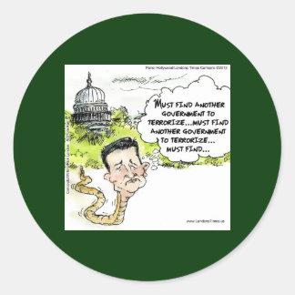 Ted Cruz Slithers del congreso divertido Pegatina Redonda