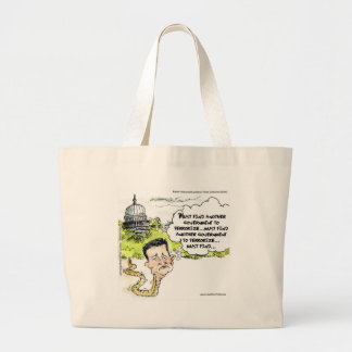 Ted Cruz Slithers From Congress Funny Tote Bags