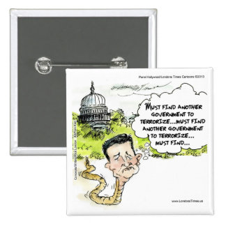 Ted Cruz Slithers From Congress Funny Pinback Button