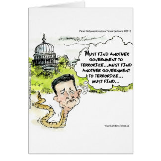 Ted Cruz Slithers From Congress Funny Card