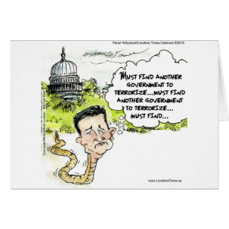 Ted Cruz Slithers From Congress Funny Greeting Cards