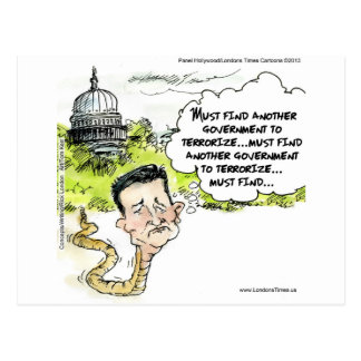 Ted Cruz Slithers From Congress Funny Postcards