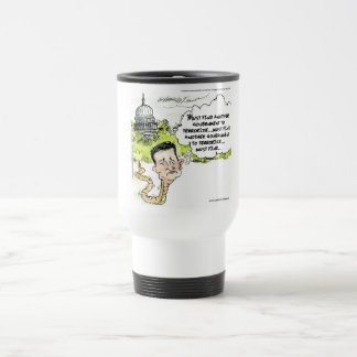 Ted Cruz Slithers From Congress Funny Travel Mug