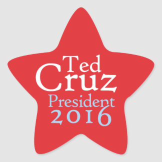 Ted Cruz Star Stickers, Glossy Star Sticker
