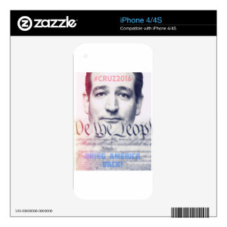 Ted Cruz - We the People Skin For iPhone 4S