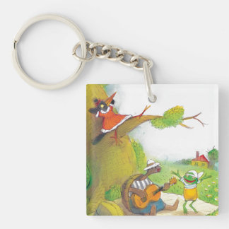 Ted, Ed and Caroll The Picnic 1 Keychain