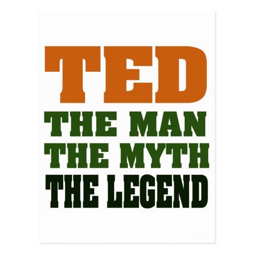 TED - el hombre, el mito, la leyenda Tarjeta Postal