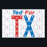 """Ted for TX Cruz 4 Senator 2018 Election Yard Sign<br><div class=""""desc"""">Ted Cruz is for Texas and the US.  Re-elect  him to the US Senate in the Midterms.  Red Wave!!!</div>"""