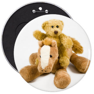 Ted horse riding button
