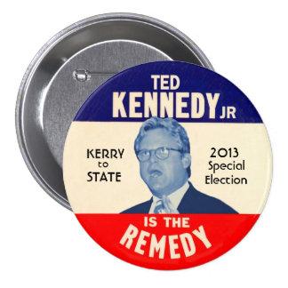 Ted Kennedy, JR para el senador 2013 de los E.E.U. Pin Redondo De 3 Pulgadas