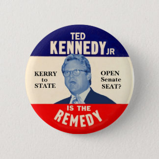 Ted Kennedy Junior is the Remedy Pinback Button
