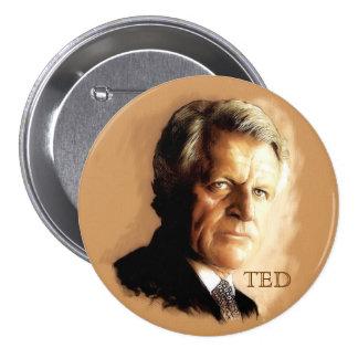 Ted Kennedy Pin Redondo De 3 Pulgadas