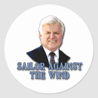 Ted Kennedy Sailor Against the Wind Stickers