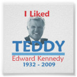 Ted Kennedy TUVE GUSTO del poster del PELUCHE