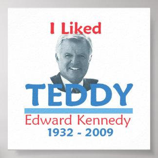 Ted Kennedy TUVE GUSTO del poster del PELUCHE