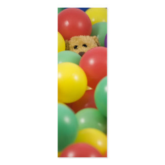 Ted overwhelmed in the ball pool again! - Bookmark Business Card Templates