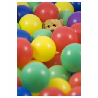 Ted overwhelmed in the ball pool again! shirt