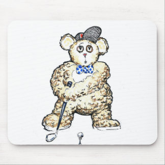 Ted Plays Golf Mouse Pad
