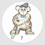 Ted Plays Golf Stickers