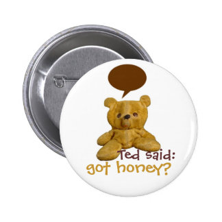 Ted said: got honey? - pin back button