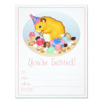 Ted the Hamster Party Invitations