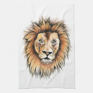 Ted The Lion Tea Towel at Zazzle