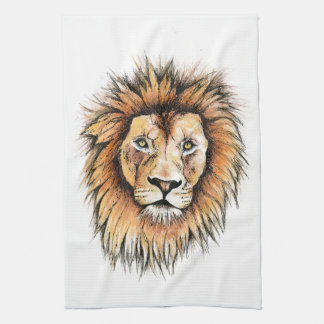 Ted the Lion Tea Towel