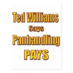 Ted Williams dice que Panhandling paga Postal