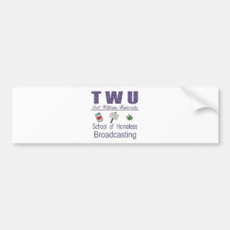 Ted Williams  Homeless Broadcasting Bumper Sticker
