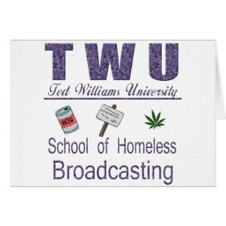 Ted Williams  Homeless Broadcasting Card