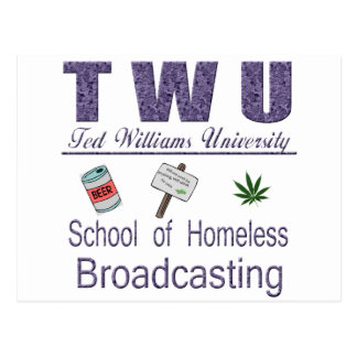 Ted Williams  Homeless Broadcasting Postcard