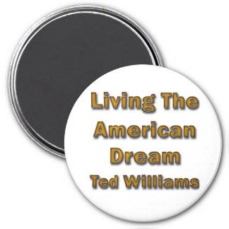 Ted Williams que vive el sueño americano Imán Redondo 7 Cm
