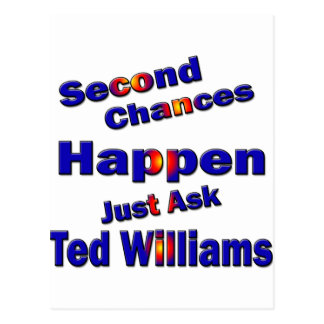 Ted Williams Second Chance2 Postcard