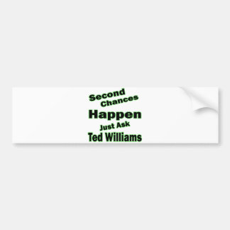 Ted Williams Second Chances Green Bumper Sticker