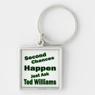 Ted Williams Second Chances Green Keychain