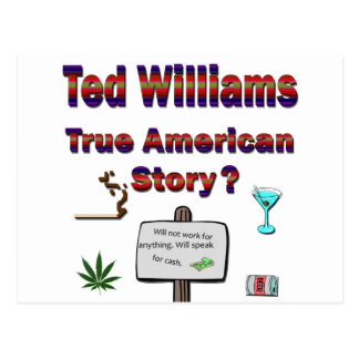Ted Williams True American Story2 Postcard