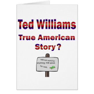 Ted Williams True American Story Card