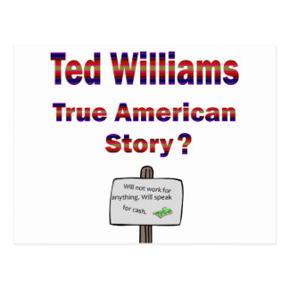 Ted Williams True American Story Postcard