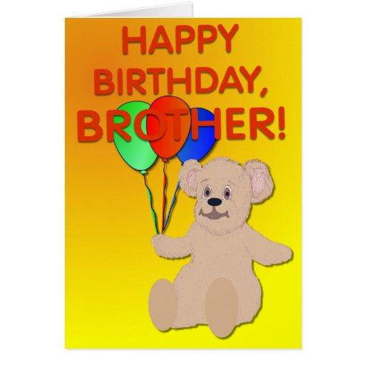 TEDBALL Child Brother Birthday Card