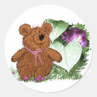Teddie Bear Classic Round Sticker