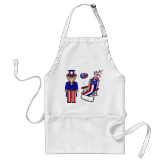 Teddies 4th of July Chair Adult Apron