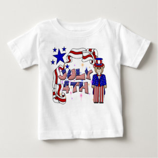 Teddies 4th of July Raglan Baby T-Shirt
