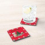 Teddies Christmas List Beverage Coaster