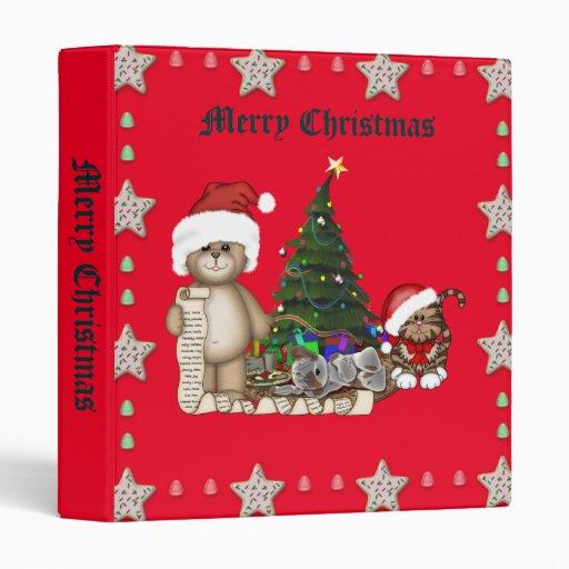 Teddies Christmas List Binder