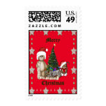 Teddies Christmas List Postage Stamps